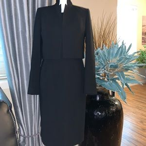 Anne Klein black formal dress with jacket